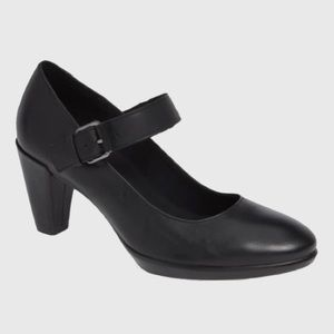 Ecco Mary Jane Black Leather Pump
